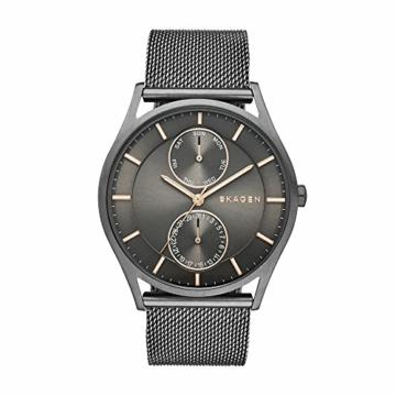 Skagen Herren Analog Quarz Uhr mit Edelstahl Armband SKW6180 - 1