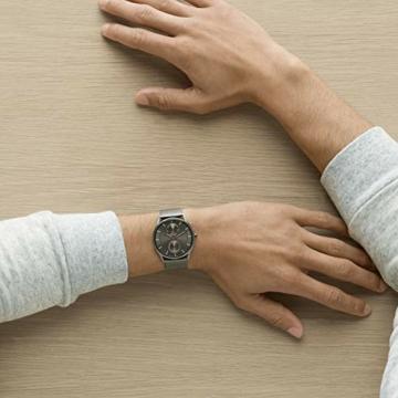 Skagen Herren Analog Quarz Uhr mit Edelstahl Armband SKW6180 - 6