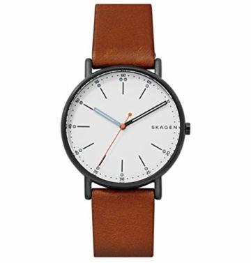 Skagen Herren Analog Quarz Uhr mit Leder Armband SKW6374 - 1
