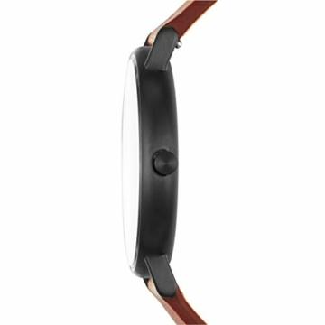Skagen Herren Analog Quarz Uhr mit Leder Armband SKW6374 - 2