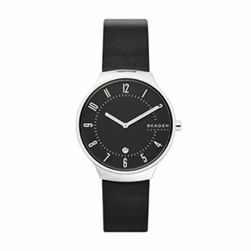 Skagen Herren Analog Quarz Uhr mit Leder Armband SKW6459 - 1