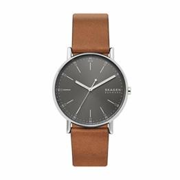 Skagen Herren Analog Quarz Uhr mit Leder Armband SKW6578 - 1