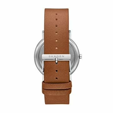 Skagen Herren Analog Quarz Uhr mit Leder Armband SKW6578 - 2