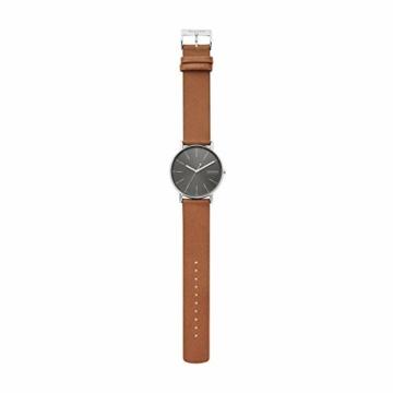 Skagen Herren Analog Quarz Uhr mit Leder Armband SKW6578 - 4