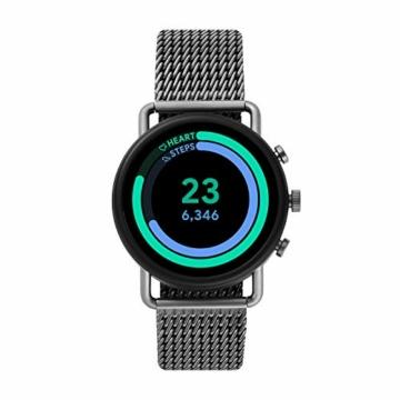 Skagen Smartwatch HR Falster 3 - Milanaise Tracking der Herzfrequenz, Google Assistant, Smartphone Benachrichtigungen, Aktivitätstracking, Google Pay und GPS - 2