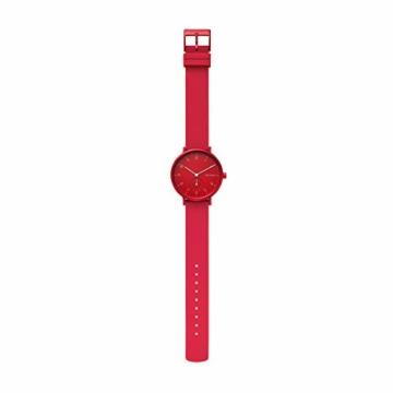 Skagen Unisex Erwachsene Analog Quarz Uhr mit Silikon Armband SKW2765 - 3