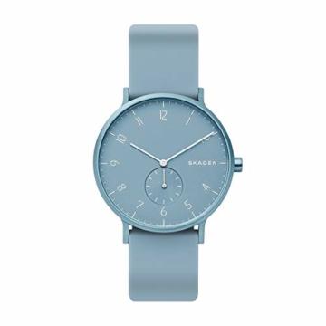 Skagen Unisex Erwachsene Analog Quarz Uhr mit Silikon Armband SKW6509 - 1