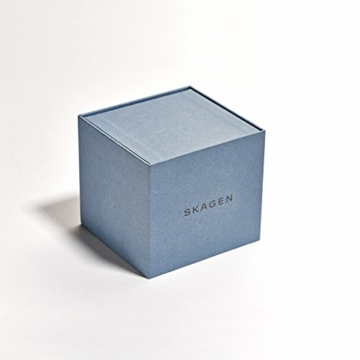 Skagen Unisex Erwachsene Analog Quarz Uhr mit Silikon Armband SKW6509 - 4