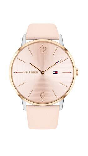 Tommy Hilfiger Damen Analog Quarz Uhr mit Leder Armband 1781973 - 1