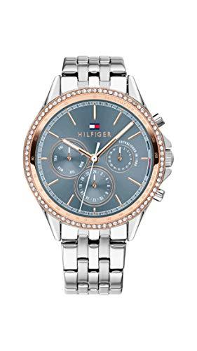 Tommy Hilfiger Damen Multi Zifferblatt Quarz Uhr mit Edelstahl Armband 1781976 - 1