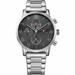 Tommy Hilfiger Herren Multi Zifferblatt Quarz Uhr mit Edelstahl Armband 1791397 - 1