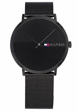 Tommy Hilfiger Unisex Analog Quarz Uhr mit Edelstahl Armband 1791464 - 1